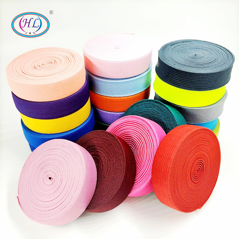 HL 2CM Width 5 Meters/lot Colorful Highest Nylon Elastic Bands Garment Trousers Bags Home Textile Sewing Accessories DIY