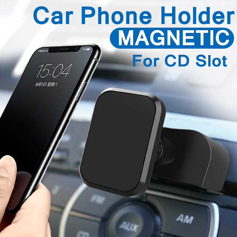 Universal Magnetic Car Phone Holder for iPhone XS X CD Slot Air Vent Phone Mount Holder Magnet Mobile Cellphone Stand Support