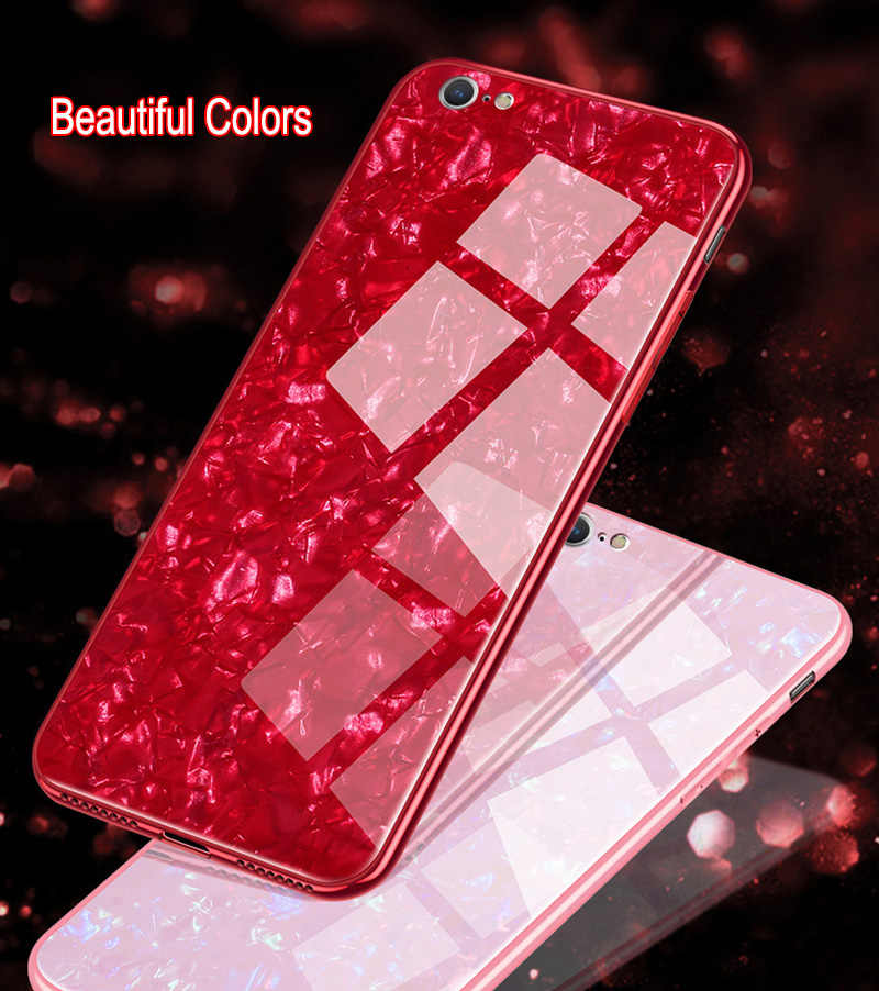 Luxury Phone Case Mirror Plating Tempered Glass Cover For iPhone 7 8 6S Plus XR XS Max Phone Shell Capa Carcasas Coque Fundas