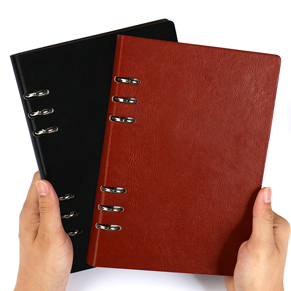 <font><b>2020</b></font> New Notebook Loose-leaf Leather Cover Organizer Writing Pads Business Notebooks Agenda <font><b>Planner</b></font> Journal Book image