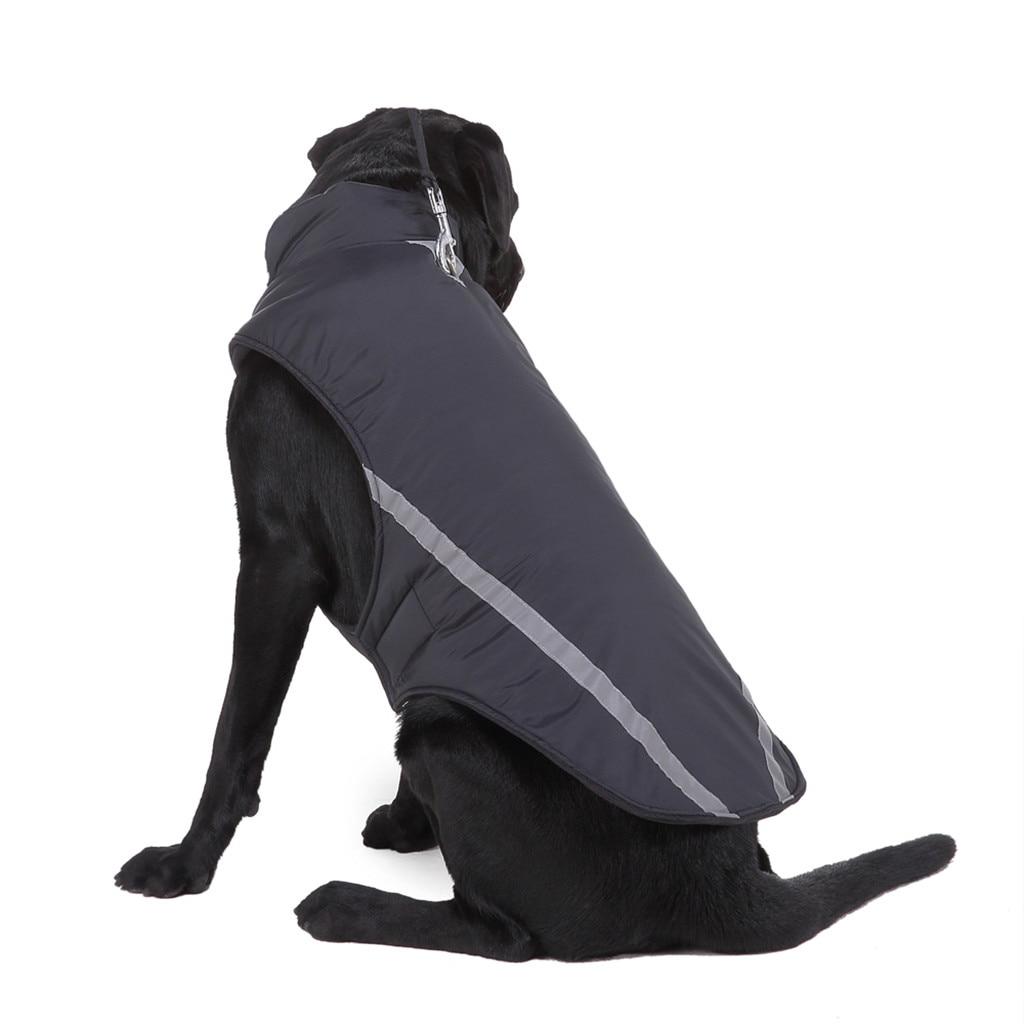 Теплая одежда для собак, светоотражающая водонепроницаемая куртка для домашних питомцев, зимнее пальто, одежда для щенков, лыжный костюм для маленьких, средних и больших собак, французского бульдога-4