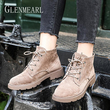 Women Boots In Ankle Boots Brand Winter Warm Shoes Female Lace Up Women Shoes Platform Casual Shoes Round Toe Fashion Plus Size недорого