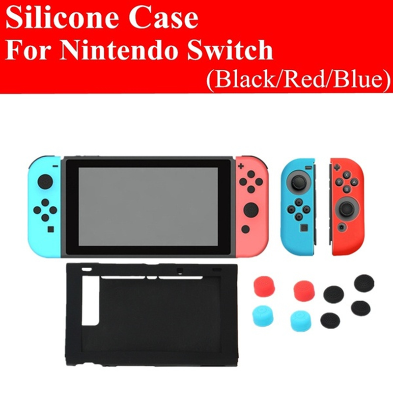 11 in 1 Silicone Case Cover + Joystick Cap For Nintend Switch Console & Joy-Con Game Accessories 1
