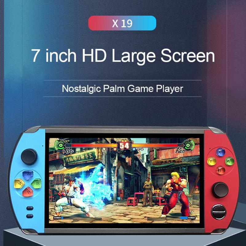 X19 7.0 pouces écran rétro joueur de jeu TV sur Console vidéo pour FC CPS NEOGEO jeux Portable lecteur de jeu de poche pour enfants cadeau