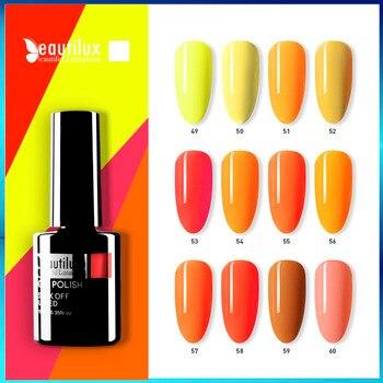 1pc quente verão cor de néon amarelo laranja unha gel polonês uv led géis verniz verniz verniz esmalte 10ml