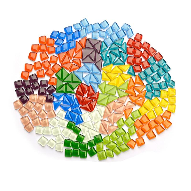 Art Craft Supplies Orange Crystal Glass Mosaic Tile Irregular Shaped