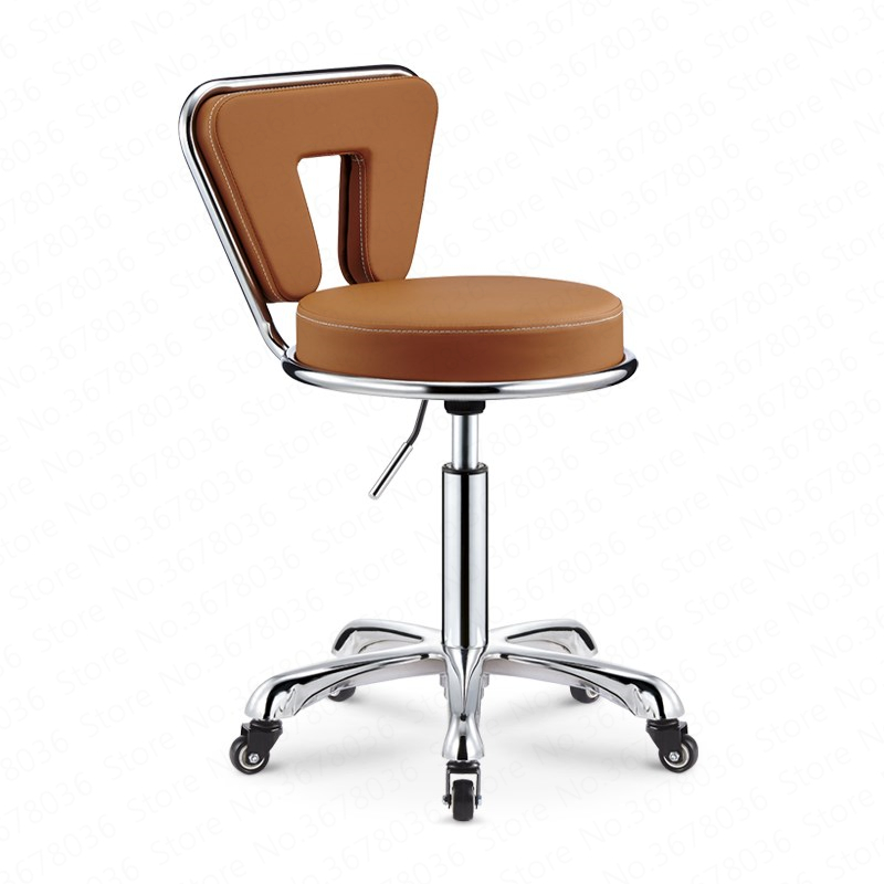 Best Lifting Bar Stools Modern PU Beauty Nail Chair Metal Bar Stools Bar Stool Chair Formal Dinning Chairs  Barber Chair