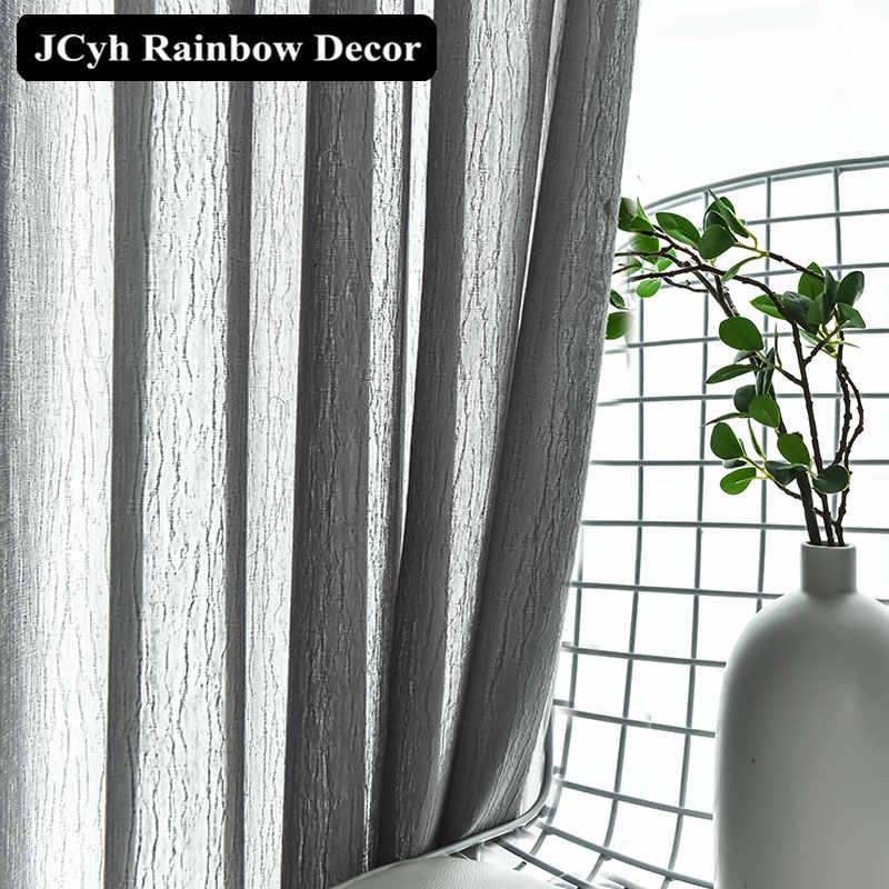 JCyh الحديثة شريط تول الستائر لغرفة المعيشة غرفة نوم سوبر لينة شير نافذة الستار ديكور المنزل الأقمشة ستارة الفوال Tende