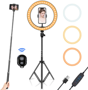 10inch LED Ring Light With Tripod Stand For Cell Phone Mini Led Camera Ringlight Ring Lamp for Video Photography Makeup Youtube