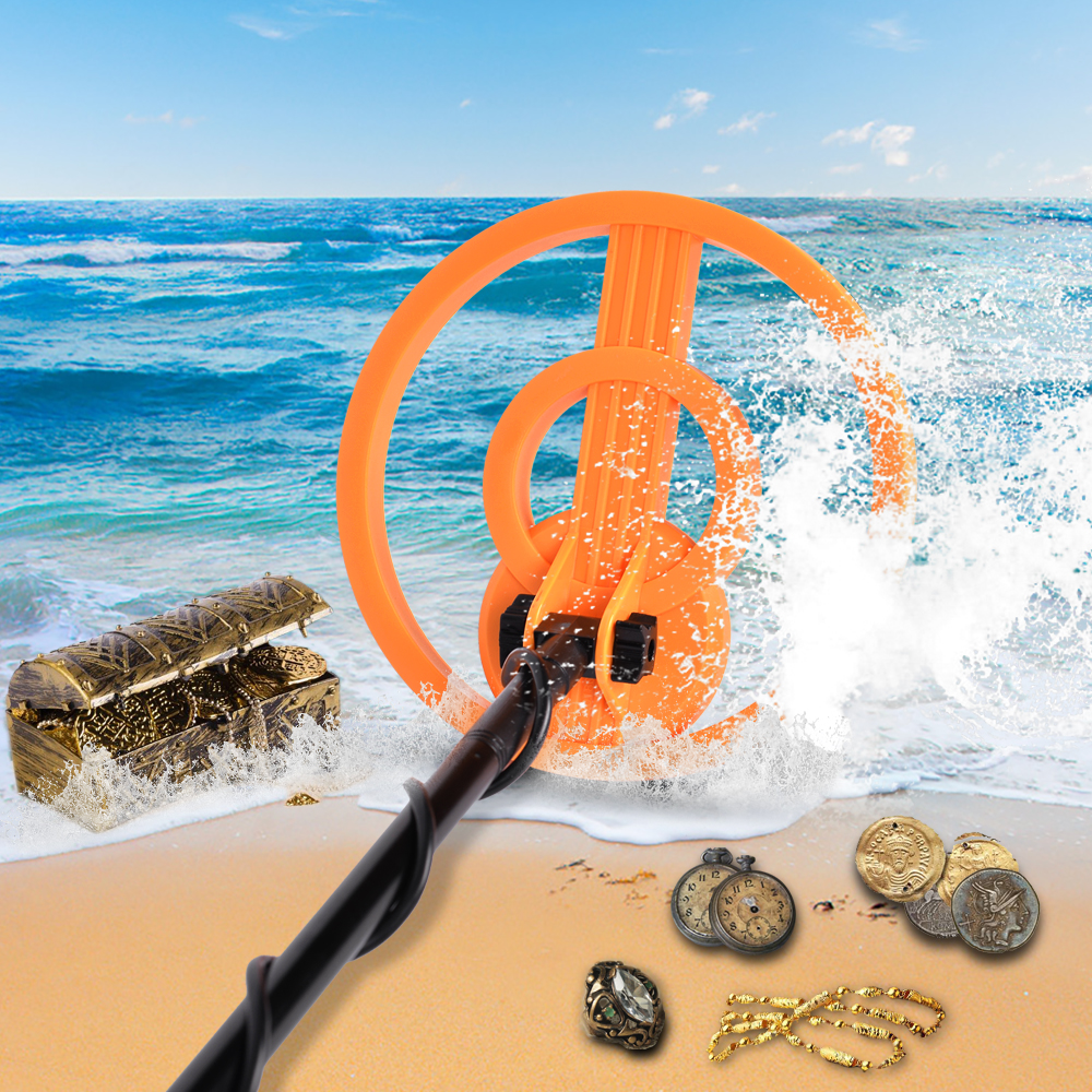 Metal Detector for Kids and Adults with Pinpoint Function High Accuracy Metal Finder with Waterproof Search