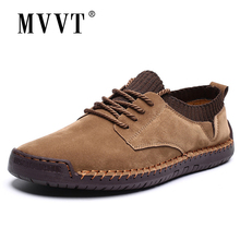 Fashion Casual Sneakers Men Shoes Breathable Suede Leather