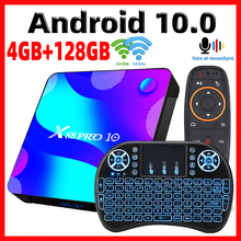 2020 smart tv box android 10 x88 pro 10 max 4gb 64gb tvbox rockchip rk3318 4k 60fps usb3.0 google playstore youtube conjunto caixa superior