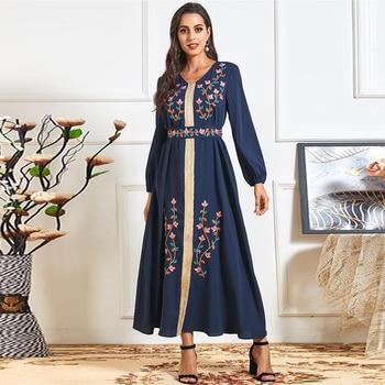 Vestidos Abaya Dubai Turkey Indian Muslim Hijab Long Dress Islam Dresses For Women Clothing Robe