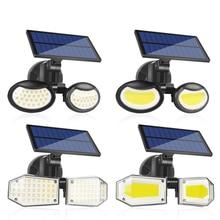 Foco Courtyard Street Lamp Solar Motion Sensor Light Led Exterior Double-Head Rotatable Home IP65