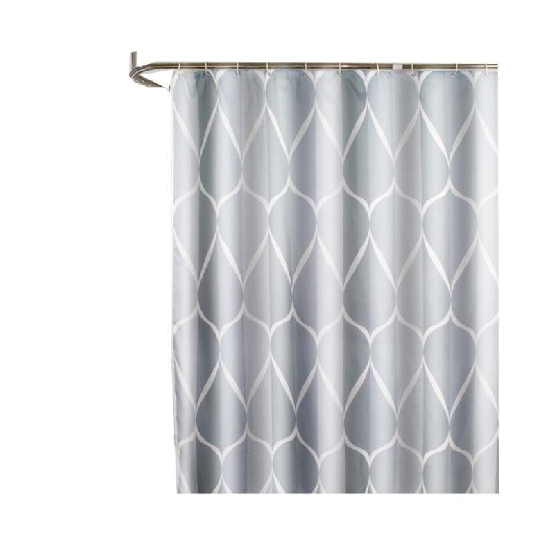 Водонепроницаемый душ Шторы с 12 крючков с геометрическим принтом Ванная комната Шторы s высокое качество полиэстер Ванна Шторы для домашнего декора - Цвет: Shower Curtain