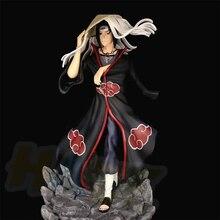 цена на Anime Naruto Akatsuki Uchiha Itachi Figure Statue Toy Collection GK Painted Model In Box  32cm