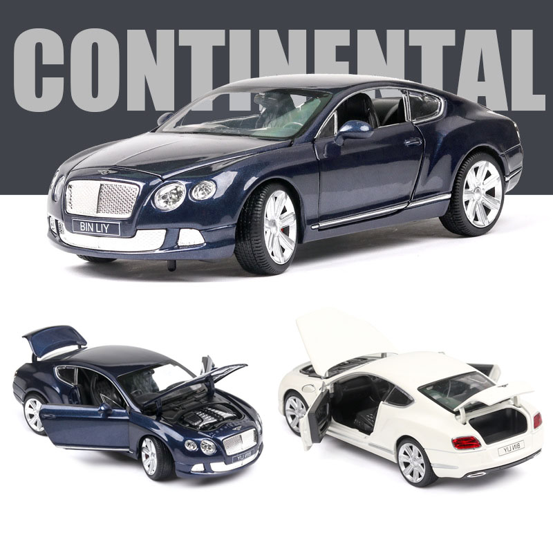 1:24  BENTLEY GT Alloy Car Model Sound And Light Force Die-casting Toy Gift Collectibles Free Shipping