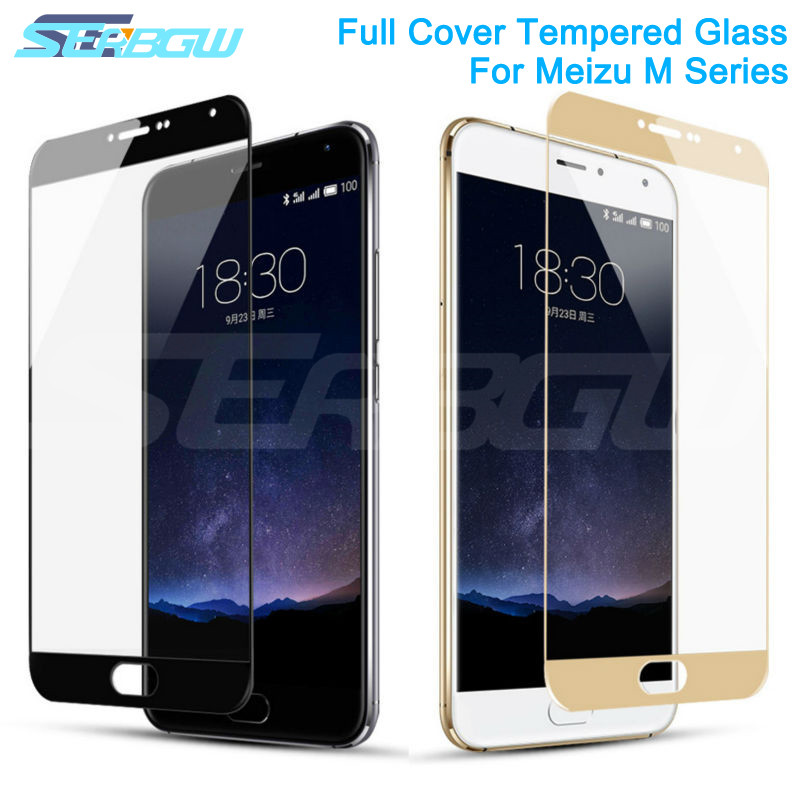 9D Curved Full Cover Protective Glass On For Meizu M8 Lite M8 M6 M5 Note M6S M6T M5S M5C V8 Pro Tempered Screen Protector Glass