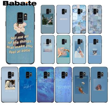 Blue Pink Aesthetics Songs Lyrics Aesthetic Phone Case For Samsung Galaxy A6 A6S PlUS A7 A720 A750 A8 Plus 2018 A9 A8 Star image