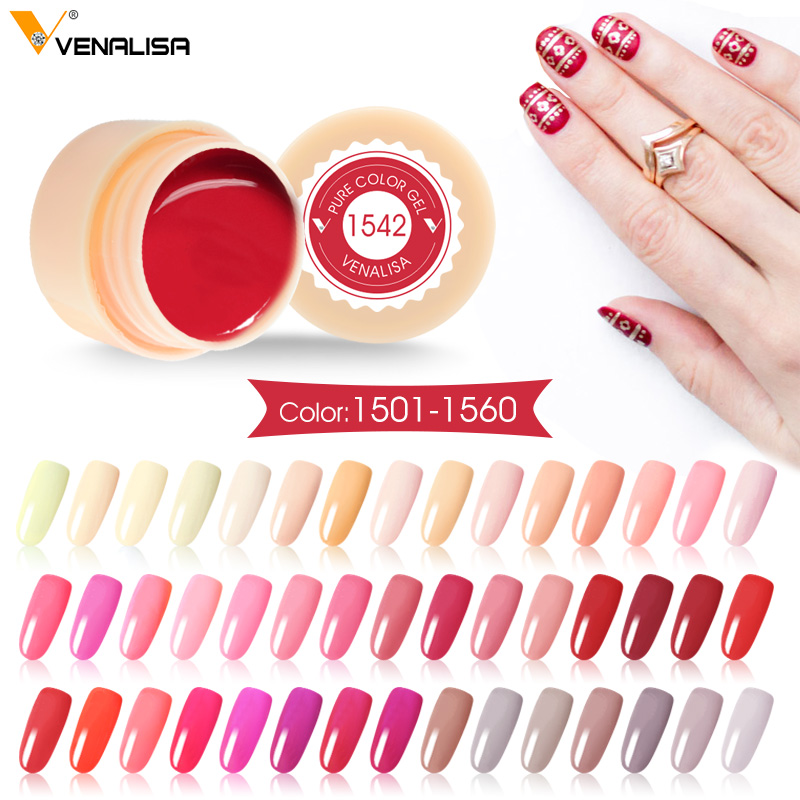 Venalisa Painting Gel 5ml CANNI Nude Red Hot Nail Art High Quality Salon Manicure Color UV LED Line Drawing Painting UV Gel