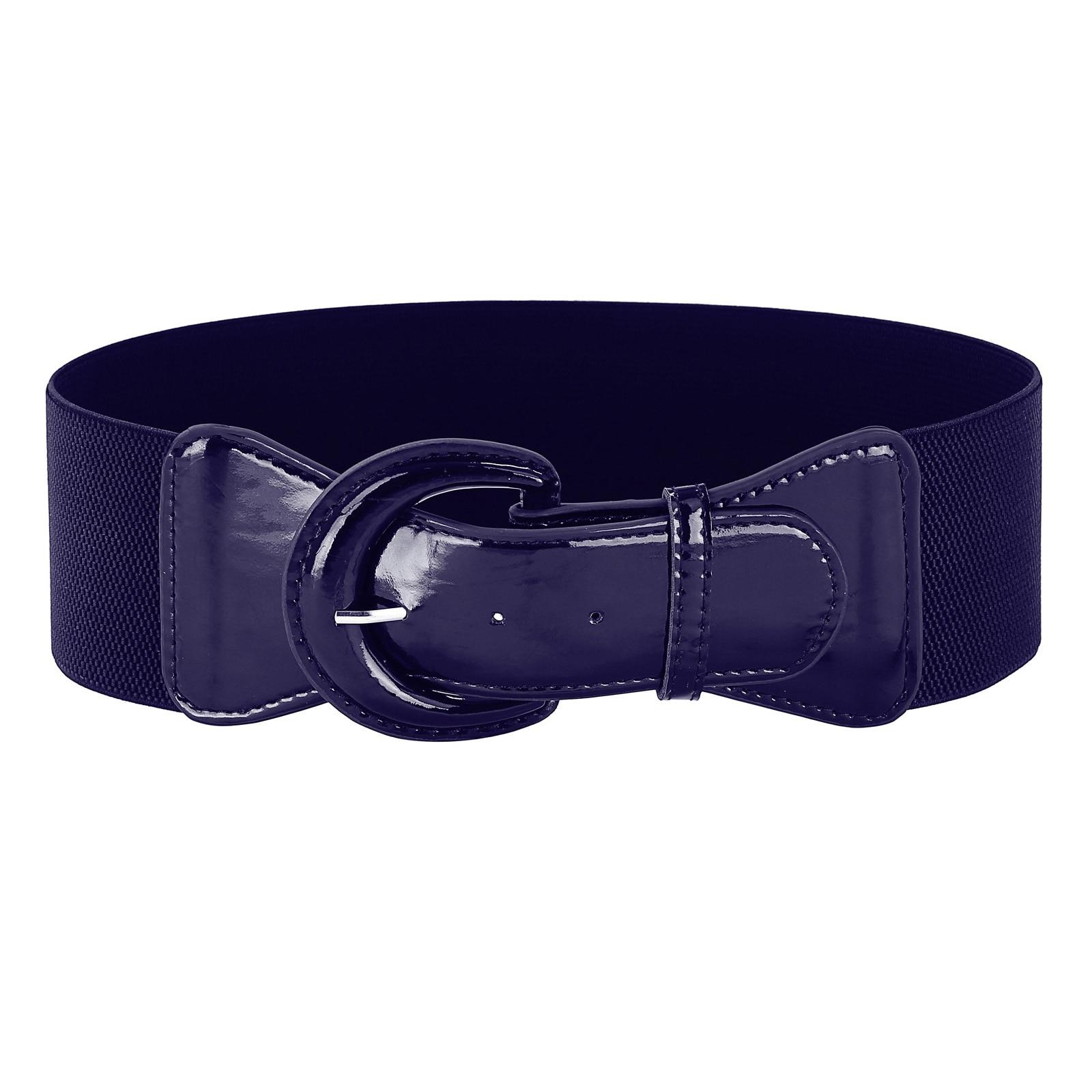 Women/'s Girls Waistband Leather Buckle Waist Belt with Chain Tassel Link
