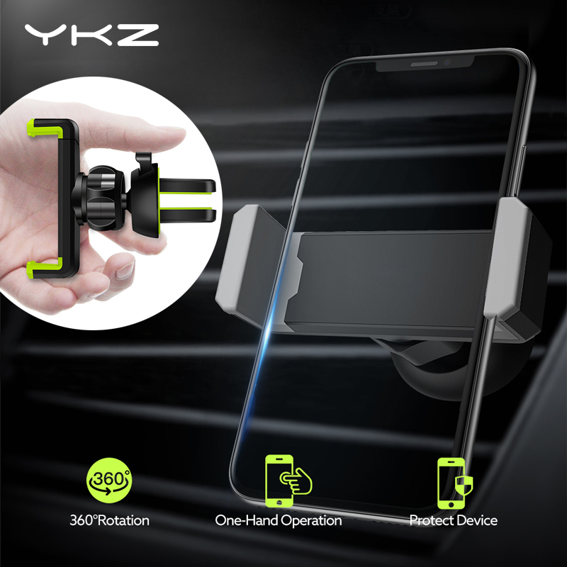 YKZ Car Phone Holder For IPhone X XS Max 8 7 SE 3.5-6.5