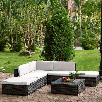 Panana 6pcs Rattan Outdoor Garden