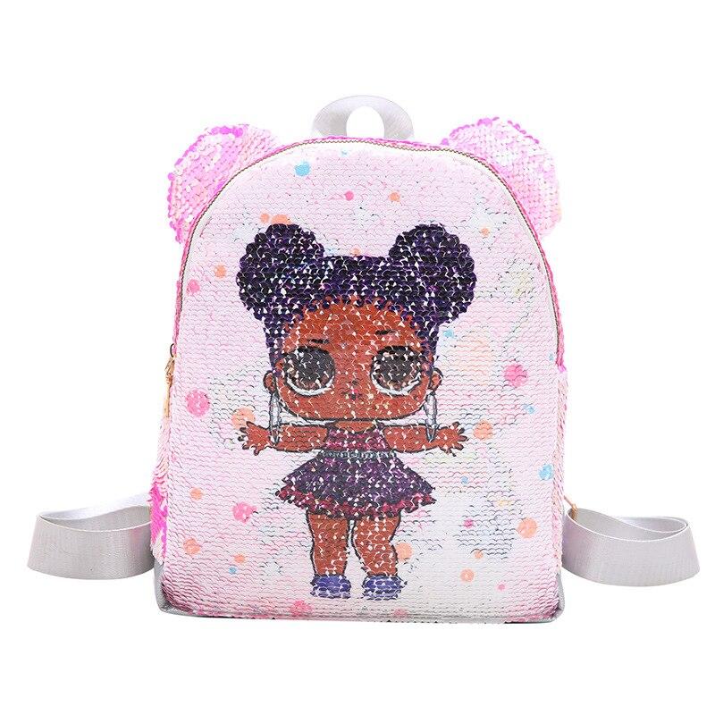 Cute Ear Unicorn Backpack Color Change Sequins Lady Backpack Cartoon Children Backpack BM01-BP-bsedka