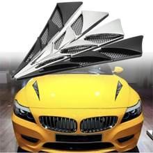2019 moda z najwyższej półki 1 para uniwersalny wystrój samochodu ozdobna atrapa wlotu powietrza Bonnet symulacja osłona wentylacyjna kaptur hurtownie szybka dostawa CSV