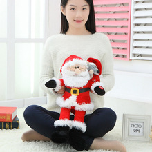 Toys Talking Singing Stuffed Claus Electronic for Kids Dolls Christmas-Gifts Softs