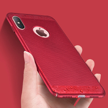 все цены на Rsionch Hollow Heat Dissipation Hard PC Case for iPhone X XS XR XS Max Slim Phone Case for iPhone 6 6s 7 8 Plus Back Cover Coque