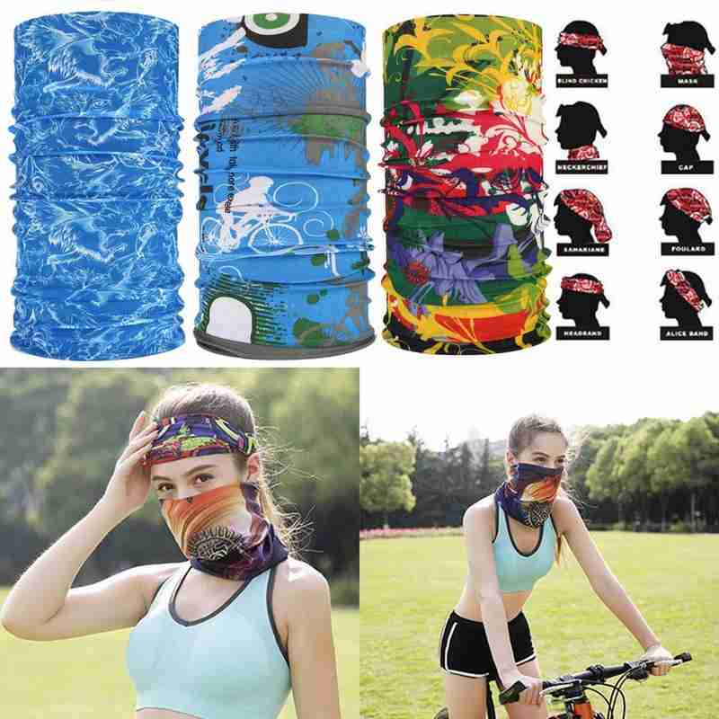 Seamless Ever-changing Magic Turban Scarf For Men And Women Cycling Hood Scarf Mask Windproof Collar Summer Sun Protection