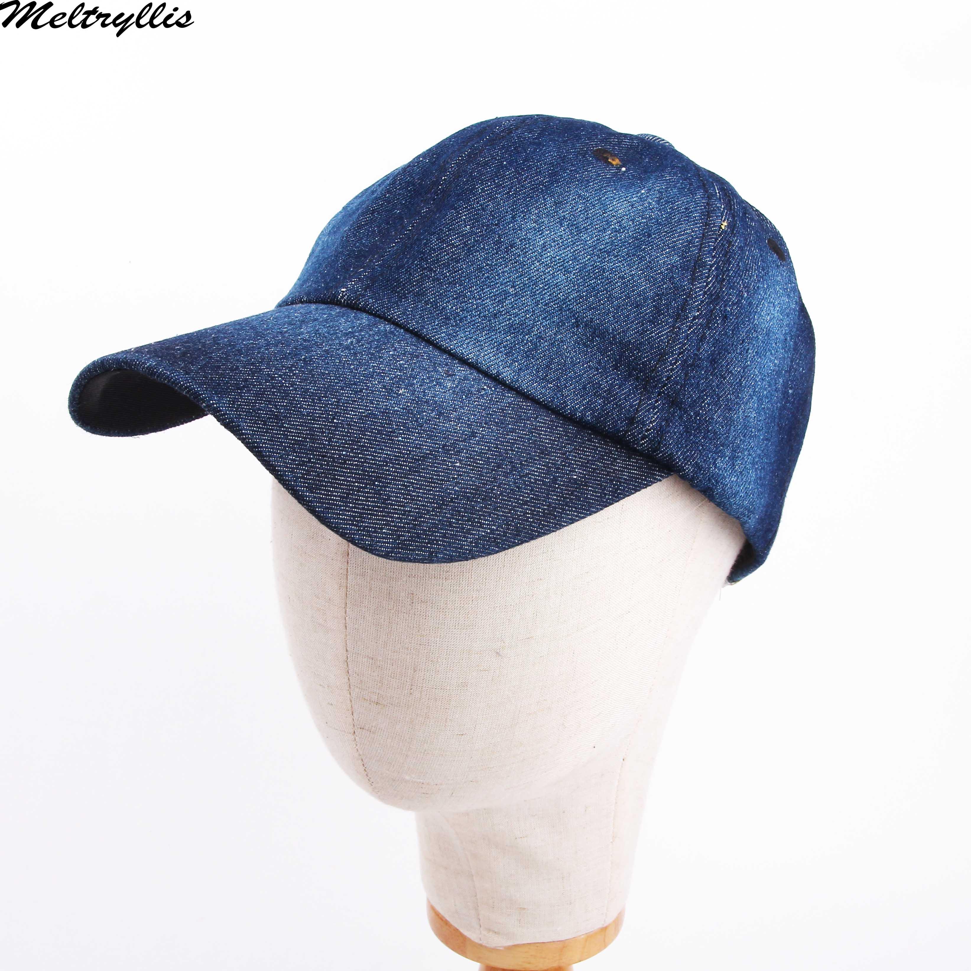 Pineapple Colorful Plain Adjustable Cowboy Cap Denim Hat Women Men