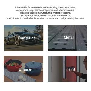 Image 4 - Grubościomierz dla samochodów UNI T UT343D miernik grubości lakieru farby miernik grubości lakier samochodowy Tester FE/NFE pomiar