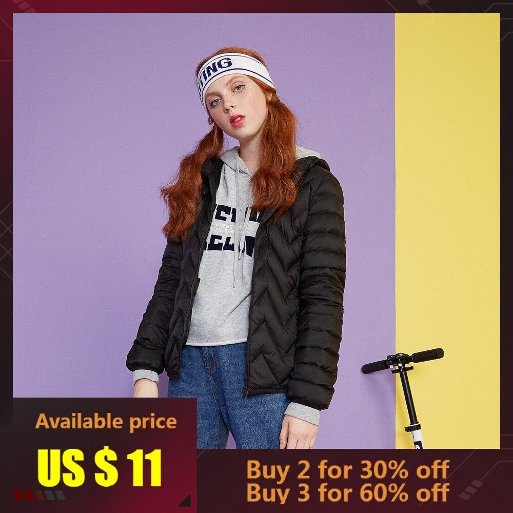 Metersbonwe 2019   Down   Jacket Women Winter Portability Warm 96% White Duck   Down   Hooded Female   Coat   Winter Jacket Womens Outwear