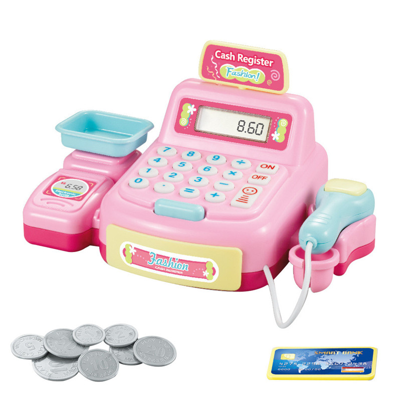 Pretend Play Kids Pretend Toys Simulation Cash Register Shopping Cashier Role Play Game Set #30N20