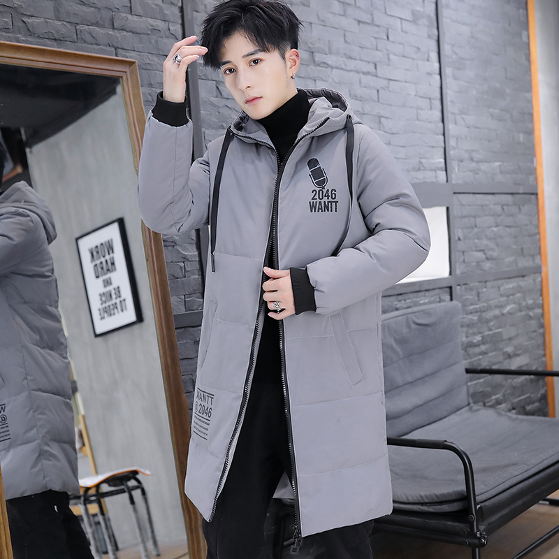 High Quality Winter Jacket Men Hooded Thicken Warm Parka Coat Casual Slim Mens Overcoat Long Slim Cotton Padded Jacket L-4XL