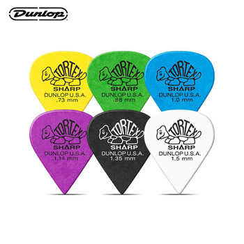 Dunlop Guitar Picks Tortex Sharp Plectrum Mediator Bass Acoustic Electric Accessories Classic Guitar Picks 0.73-1.35mm dunlop guitar picks tortex tiii plectrum mediator bass acoustic electric accessories classic guitar picks 0 5mm 1 50mm picks