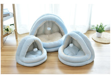 Soft Cat Warm Small for cats Dogs Pet Bed Indoor Kitten House Nest Collapsible Cave Cute Sleeping Mats Winter Products