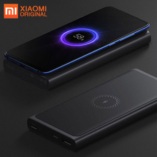 Original Xiaomi Wireless Power Bank Powerbank 10000mAh Portable Charger USB C Batterie Externe Bateria Externa Mi Power Bank аксессуар чехол xiaomi silicone case for power bank 2 10000mah blue