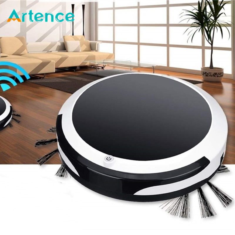 Home 4 in 1 Rechargeable Auto Cleaning Robot Smart Sweeping Robot Dirt Dust Hair Automatic Cleaner For Electric Vacuum Cleaners image