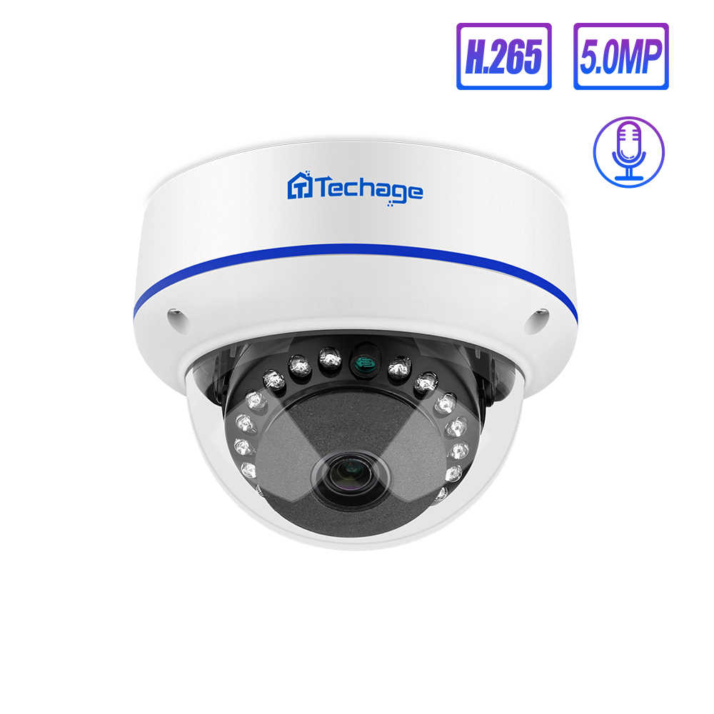 Techage 4MP 5MP H.265 Security POE Camera 48V Dome Outdoor Indoor IP Camera Video Ntework Surveillance ONVIF voor NVR systeem Kit