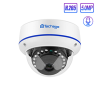 Techage 4MP 5MP H.265 Security POE Camera 48V Dome Outdoor Indoor IP Camera Video Ntework Surveillance ONVIF for NVR System Kit