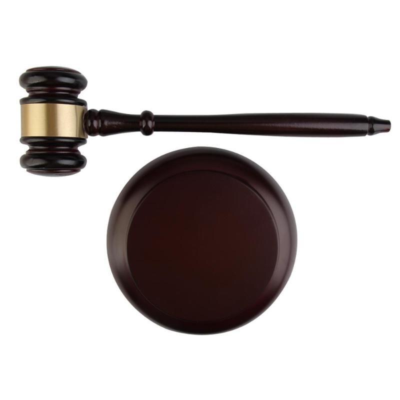Ручной деревянный аукцион молоток для адвокатского судью ручной работы молоток для торга распродажа декор черный