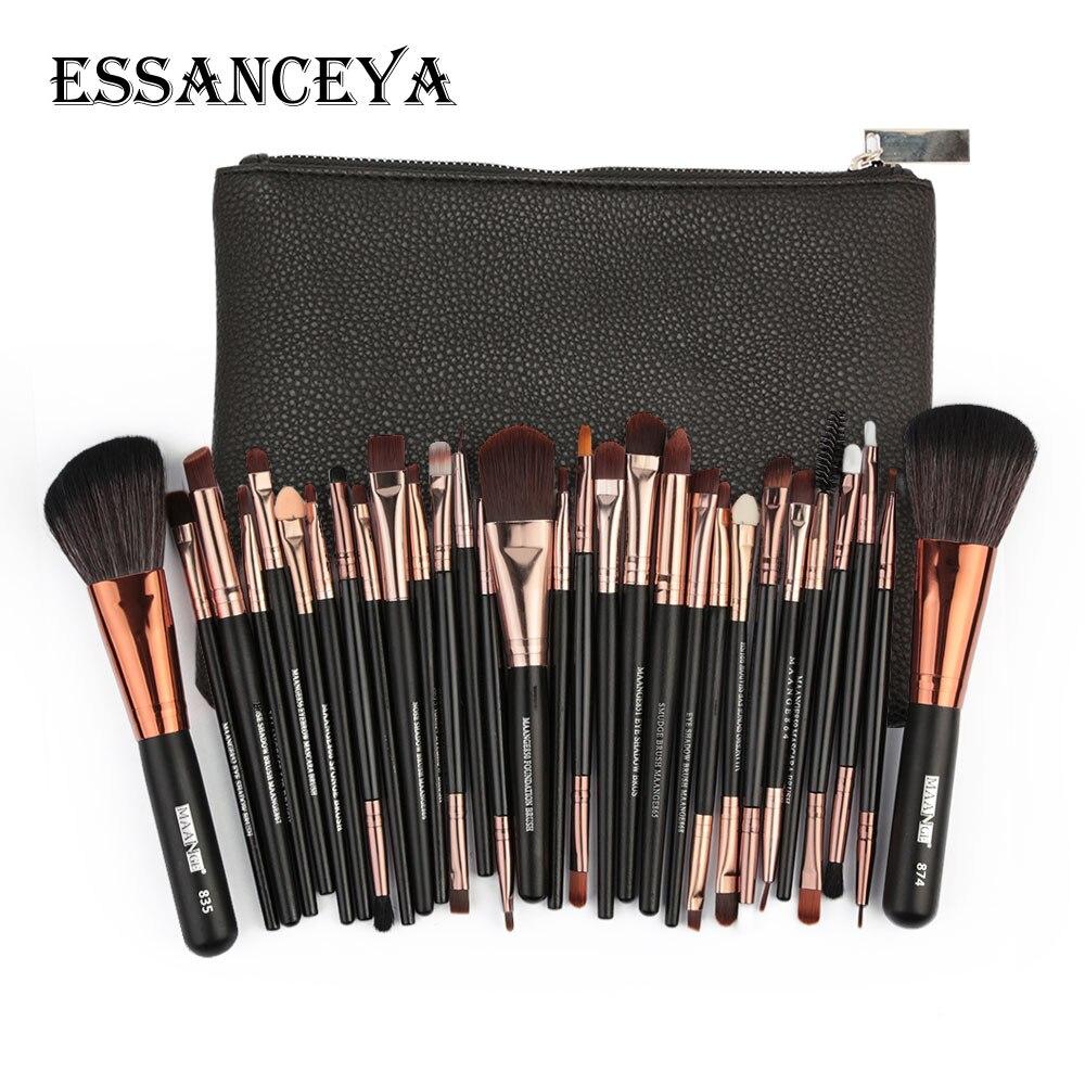 ESSANCEYA 11-30 stücke Pro Make-Up Pinsel Set Lidschatten Eyeliner Pulver Foundation Erröten Lip Schönheit Make-up Pinsel Werkzeuge kosmetik Tasche