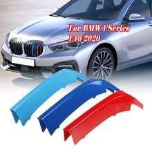 Adesivos para frente da grade do carro, 3 pçs/cj guarnição 3d para carro bmw 1 series f40 2020 adesivos para grade do carro acessórios