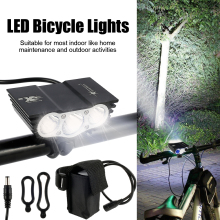3 * XML T6 LED 12000 Lm 3 Modes Bicycle Front Lamp Bike Light Headlight USB Rechargeable Cycling Torch Headlight Flashlight