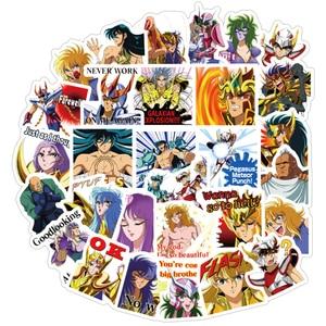 Image 1 - 40 Stks/pak Anime Saint Seiya Stickers Waterdichte Pvc Reizen Skateboard Bagage Koffer Gitaar Scrapbooking Jongen Meisje Kid Sticker