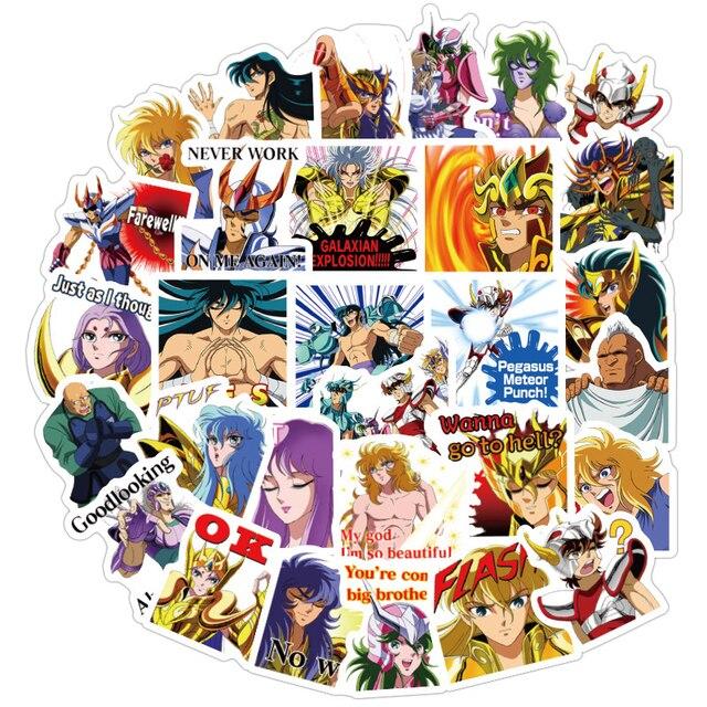 40 Stks/pak Anime Saint Seiya Stickers Waterdichte Pvc Reizen Skateboard Bagage Koffer Gitaar Scrapbooking Jongen Meisje Kid Sticker