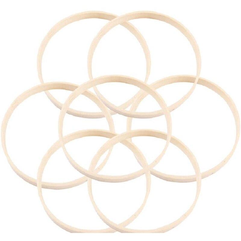 10 шт. деревянные бамбуковые кольца «Ловец снов» обручи круглые обручи макраме кольца для Ловец снов DIY ремесло 27 см